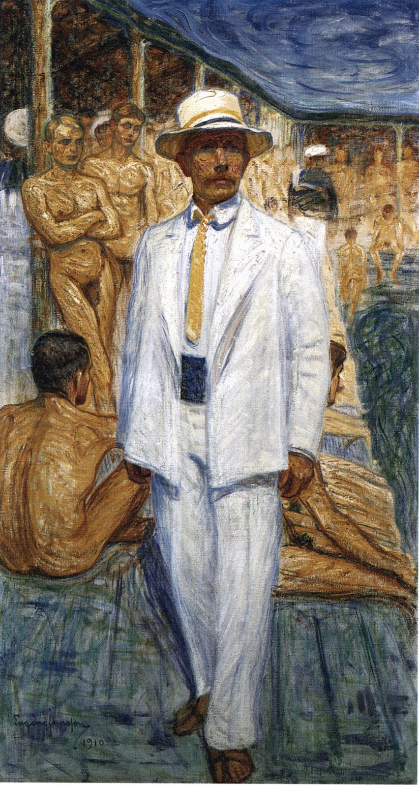 Eugène Jansson_Autoritratto ai Flottans Badhus(1910)(National Museum)