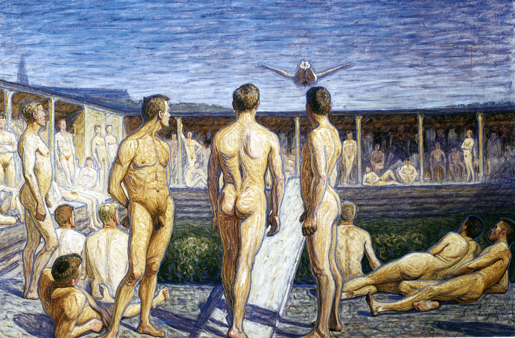 Eugène Jansson_Badtavla, 1908