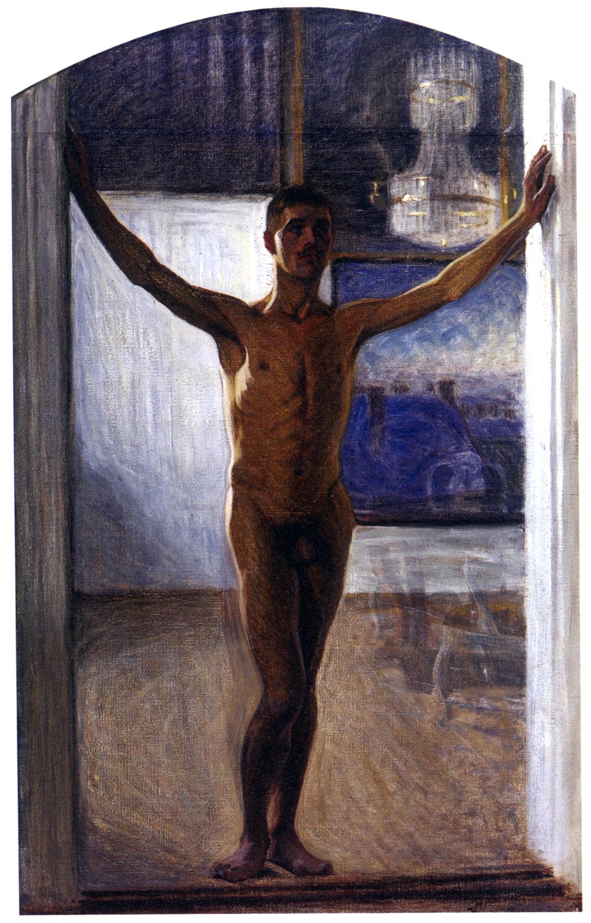 Eugéne_JANSSON_Nudo sulla soglia_(Knut Nyman )1906_(Prins Eugens Waldemarsudde_Stoccolma)