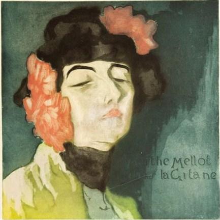 M.lle-Marthe-Mellot-dans-La-Gitane-1900-acquaforte-e-acquatinta-a-colori-con-ritocchi-a-pastello