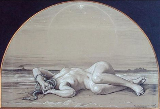 1923-vedder-elihu-The-Dead-Medusa