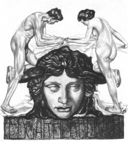 Alois Kolb - Ex libris (with head of Medusa)