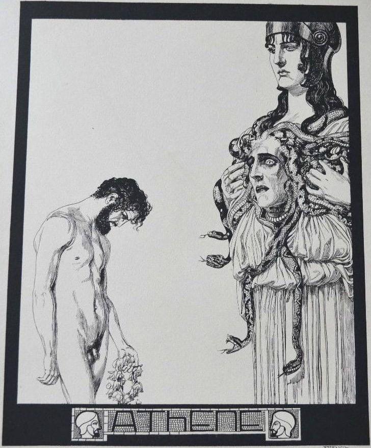 Franz Stassen Kunst-Drucke zu Mappen-Werk Götter 1901