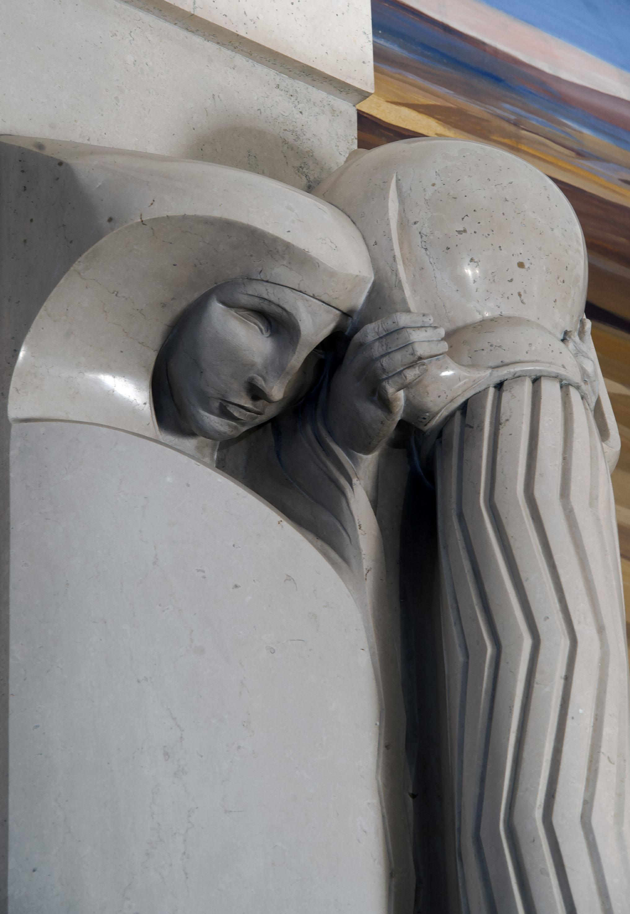 Duilio-Cambellotti-Palazzo-dell'Acquedotto-Pugliese-Sala-del-Consiglio-stele-dellacqua