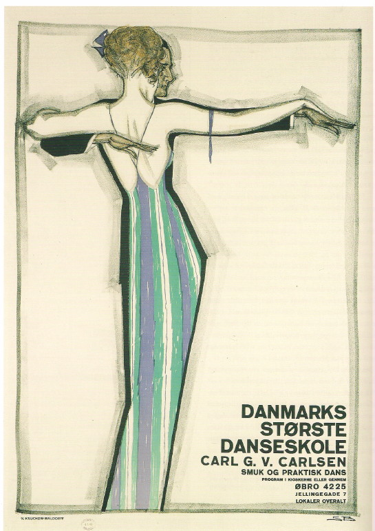 dinamarca-danmark-poster-cartel-dance 1921