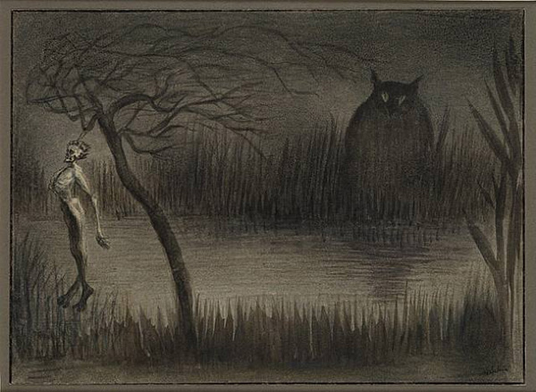Alfred Kubin, The pond, 1905