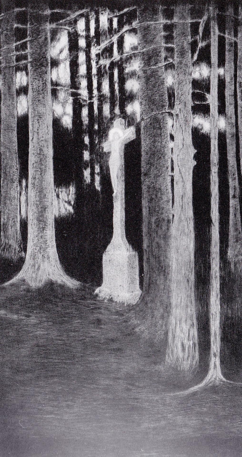 Bosco mistico, 1912. Acquaforte e puntasecca
