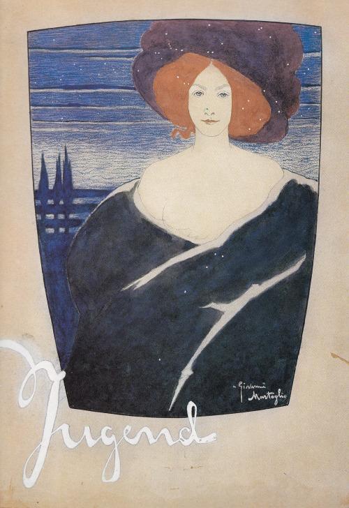 Due copertine per Jugend, 1905. Acquarello e pastello