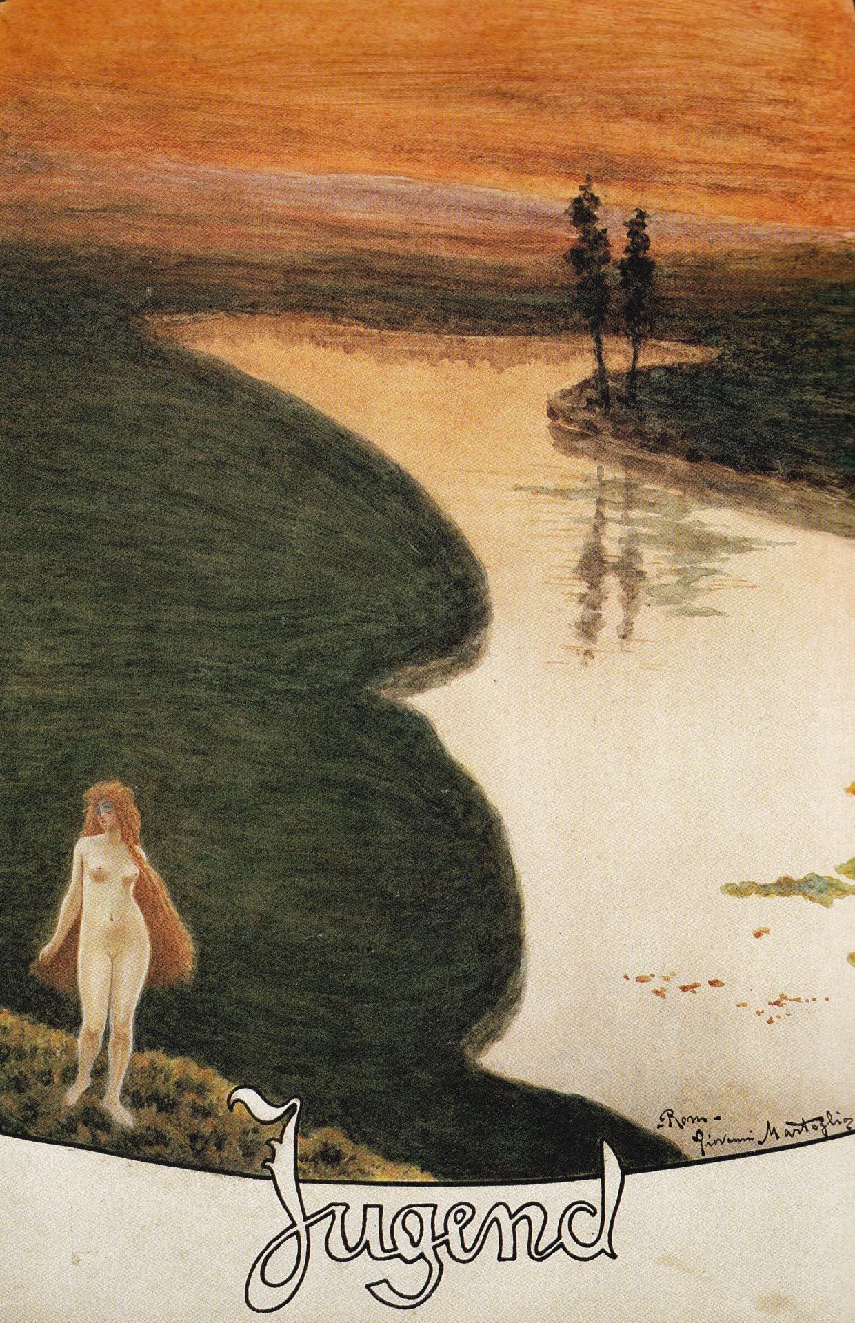 Due copertine per Jugend, 1905. Acquarello e pastello2