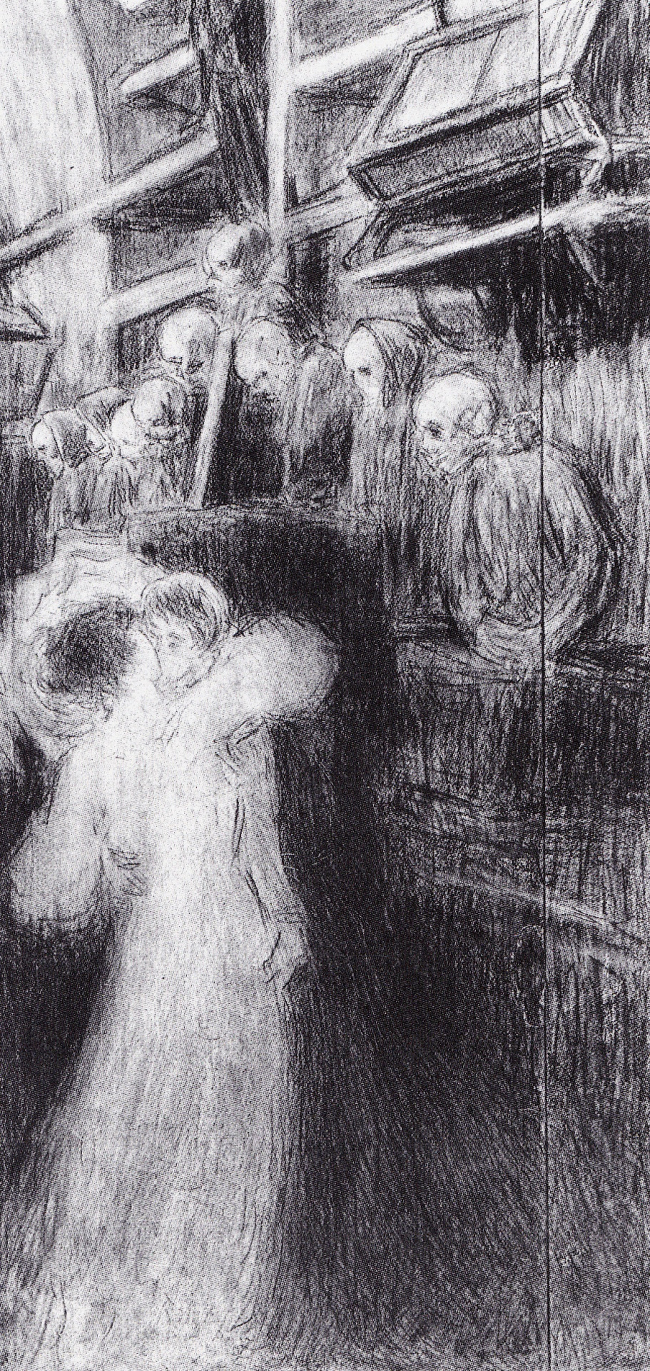 Ergo vivamus, 1907. Carboncino e matita
