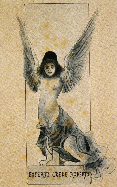 Ex libris Diego De Roberto, 1900