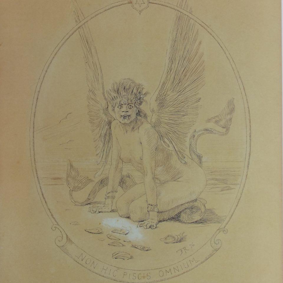 Félicien Rops, Non Hic Piscis Omnium, 1876