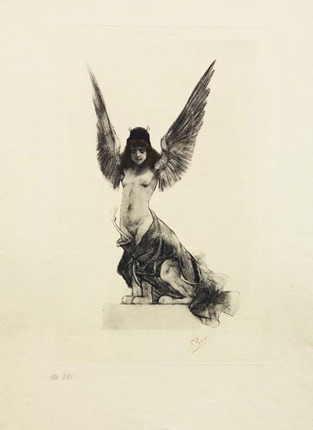 Félicien Rops, Sphinx, Frontespizio per Chair (dernières poésies), di Paul Verlaine, 1896