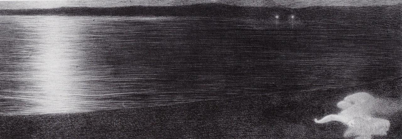 Notturno (Per Sempre), 1910. Carboncino e matita