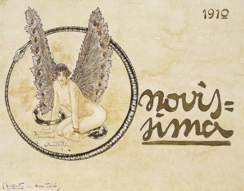 Sfinge, 1910. Disegno originale della copertina di Novissima.