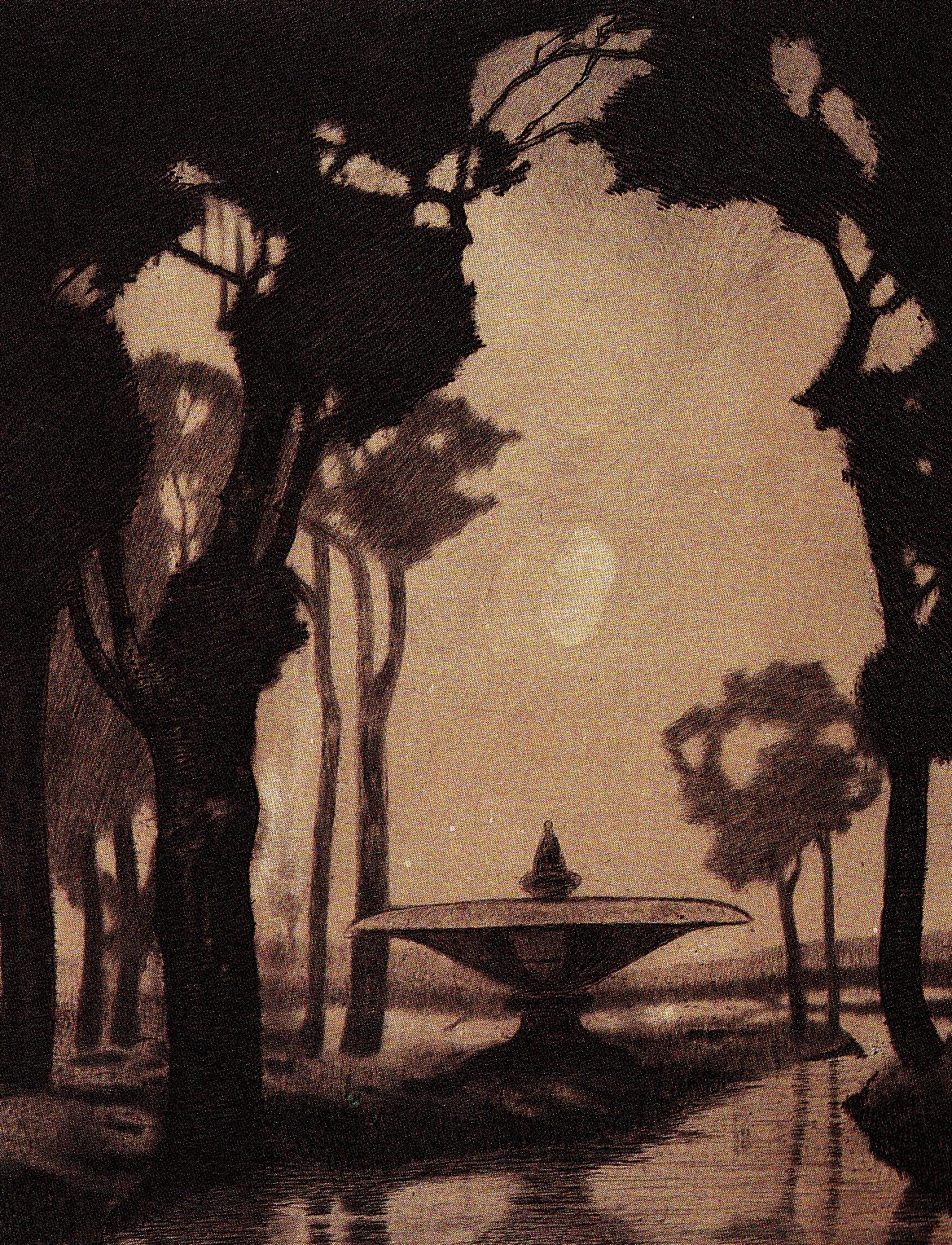 Sonno- Villa romana, 1916. Acquaforte e puntasecca