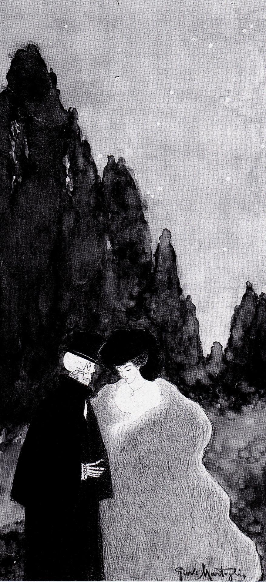Studio per Il Convegno, 1908. China e acquarello monocromo