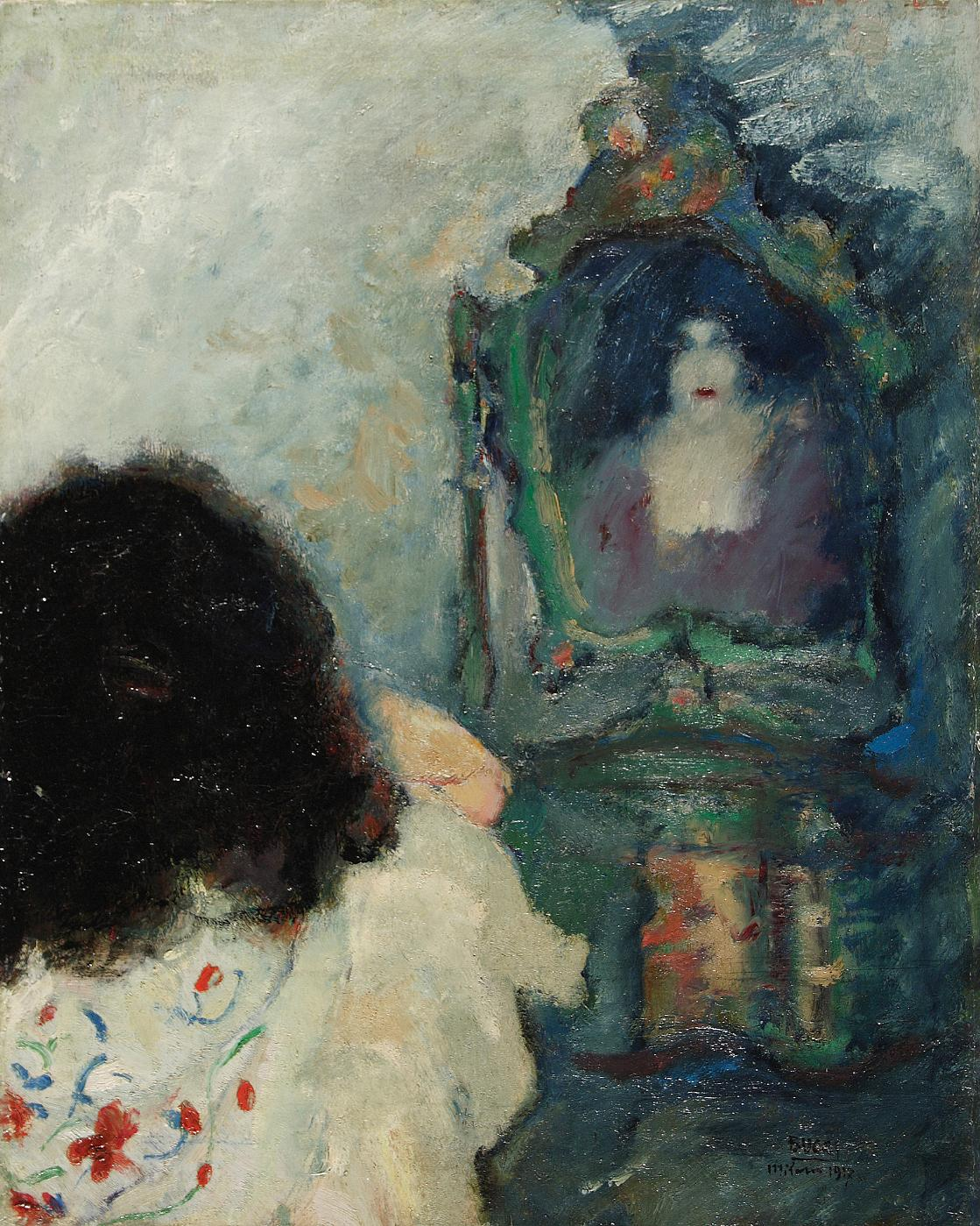 At the Mirror Anselmo Bucci 1917
