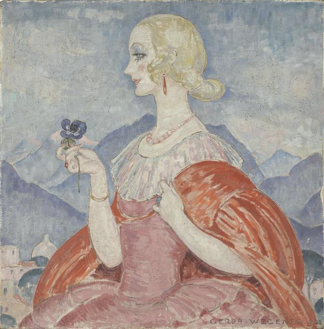 """The Lady Anemone"" by Gerda Wegener,1922"