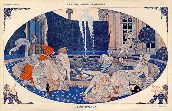 24126-gerda-wegener-1917-feminine-enjoyments-sexy-girls-art-deco-style-swan-hprints-com