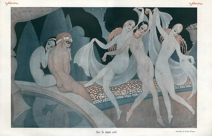 27436-gerda-wegener-1926-sur-le-tapis-vert-sexy-girl-nude-dancer-hprints-com