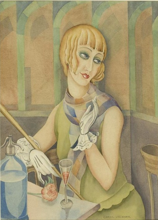 A portrait of Lili Elbe by Gerda Wegener, a watercolour from 1928