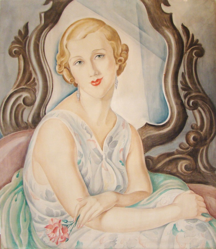 Gerda Wegener, Lady with mirror