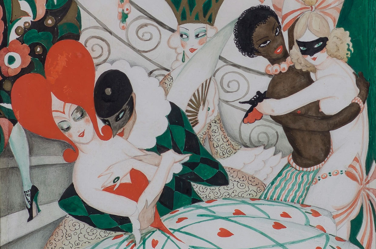 Gerda Wegener, The Carnival (detail), c. 1925. Photo Morten Pors