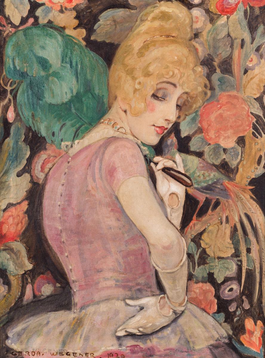 """Lili med fjerkost"" af Gerda Wegener"