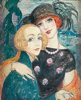The Two Friends, 1921, Gerda Gottlieb Wegener,
