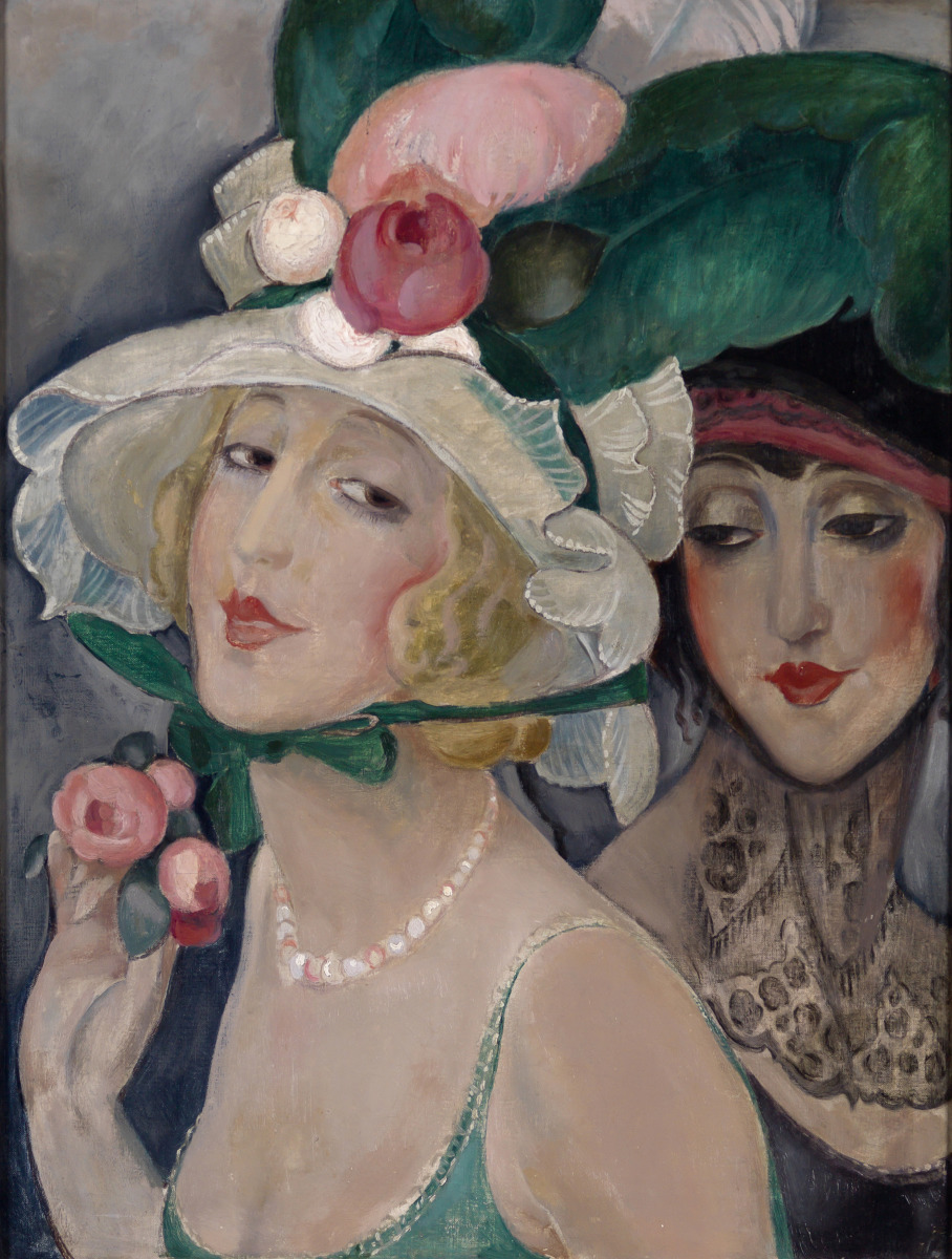 Two Cocottes with Hats (Lili and friend), c. 1925