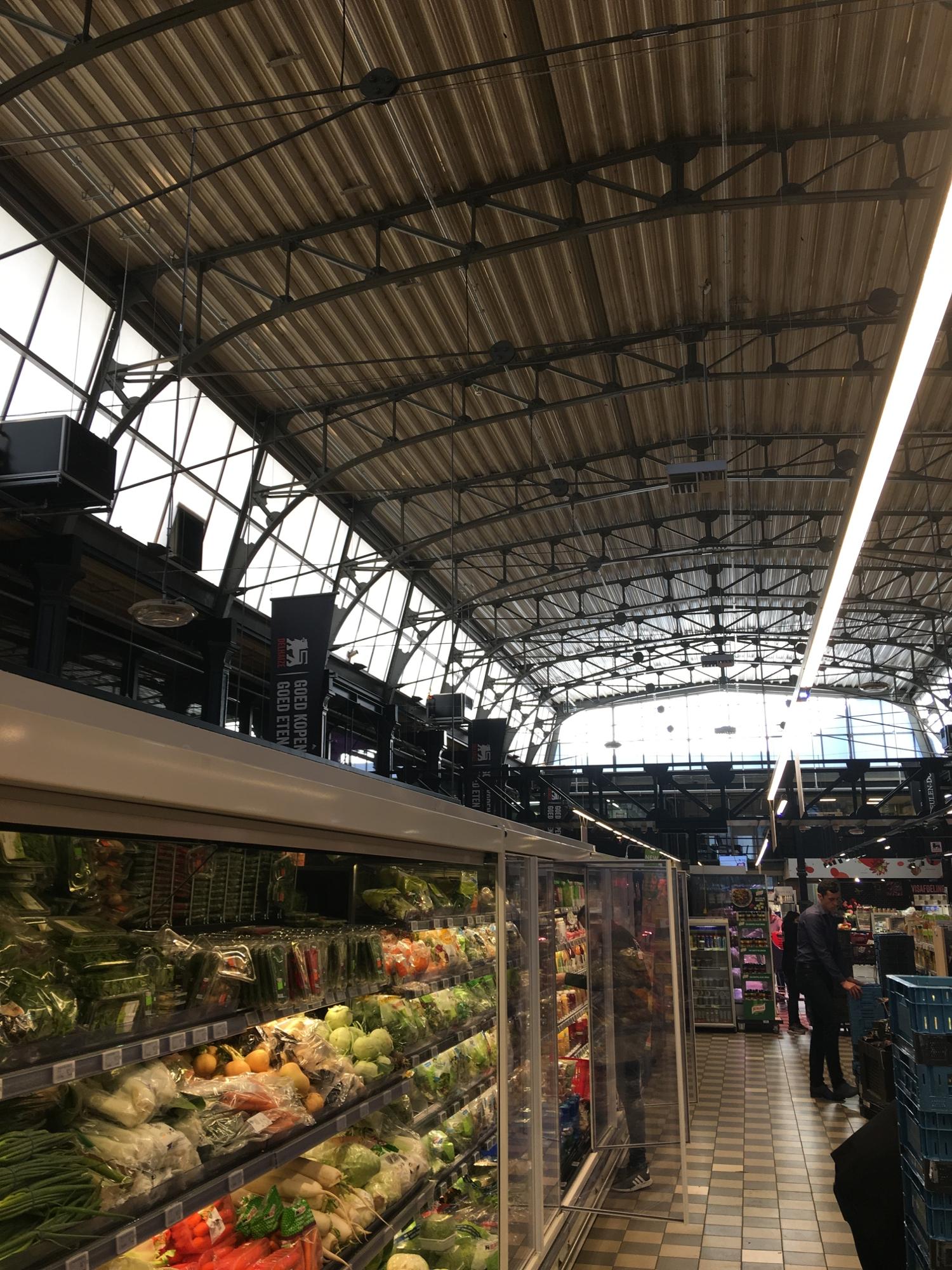 A market inside an art nouveau building