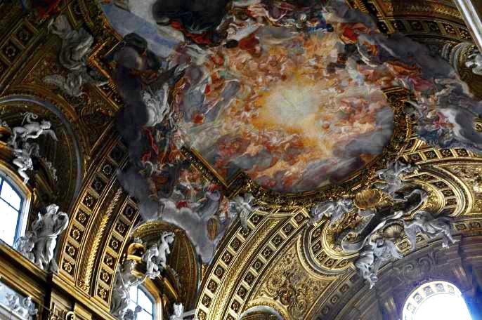 rocaille-chiesa-del-gesù-affresco-baciccio-roma